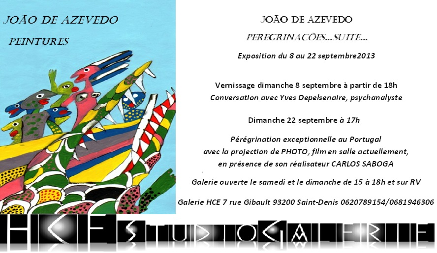 invitation expo azevedo Paris S. Denis