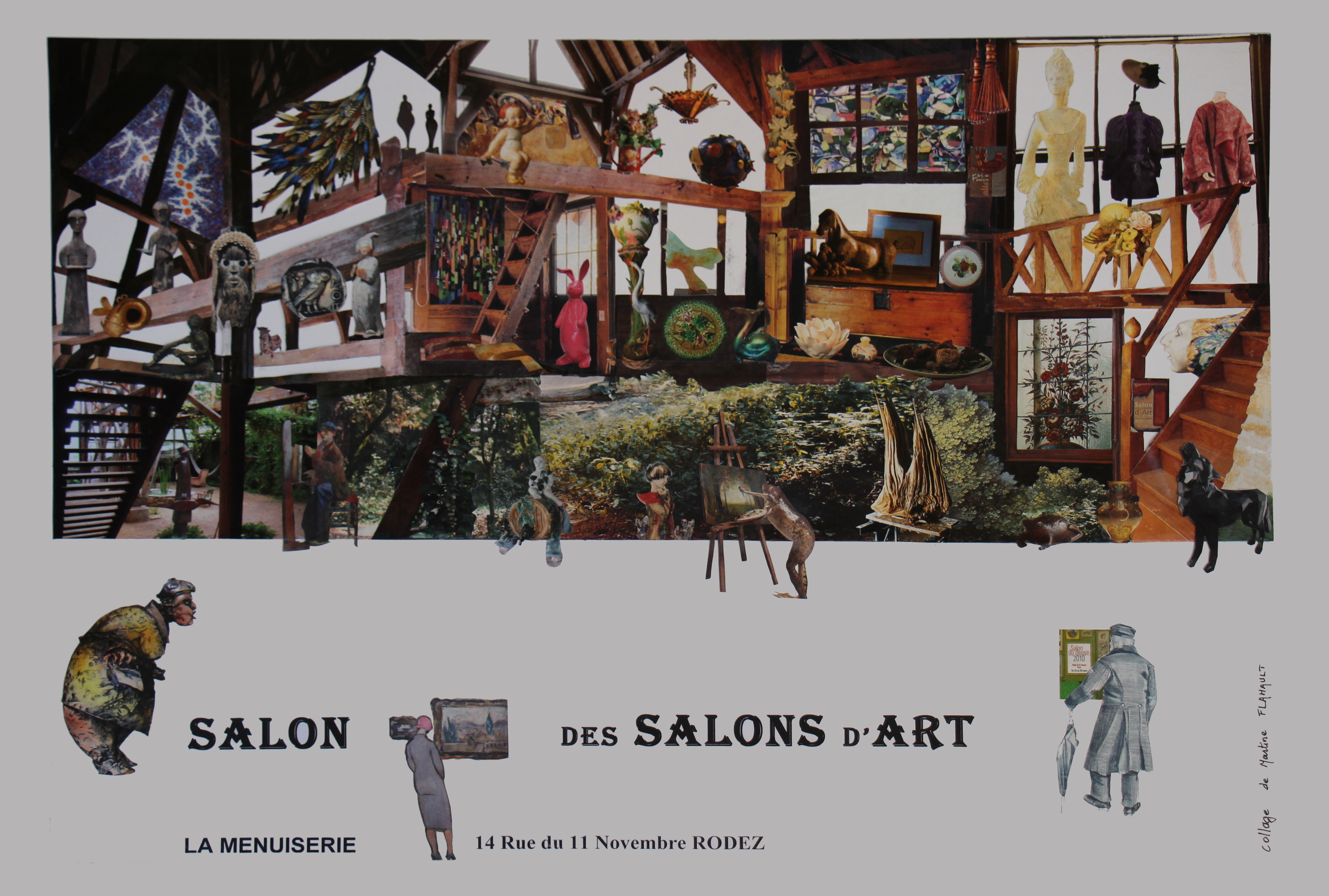 le salon des salons d art march de l t avec les. Black Bedroom Furniture Sets. Home Design Ideas